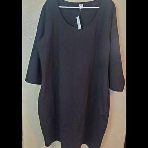 Old Navy 3X Black Sheath Stretch Dress